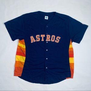 Houston Astros Alt. Navy Baseball Jersey Sz XL